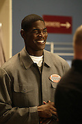 Tampa Bay Buccaneers wide receiver Keyshawn Johnson appears on NFL Players Week on Wheel of Fortune on 11/04/2003. ©Paul Anthony Spinelli