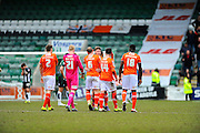 during the Sky Bet League 2 match between Plymouth Argyle and Luton Town at Home Park, Plymouth, England on 19 March 2016. Photo by Graham Hunt.
