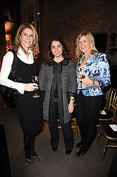 Left to right, KIMBERLEY JULIUS, MARYAM EISLER and MARCELLE JOSEPH at a lecture in aid of The Lavender Trust hosted by Asprey, Bond Street, London on 27th January 2010.
