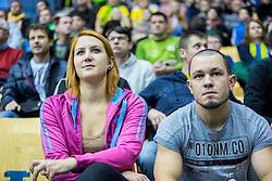 Zana Kopac with her boyfriend during handball match between RK Celje Pivovarna Lasko (SLO) and Rhein-Neckar Loewen (GER) in Round 6 of EHF Champions League 2014/15, on November 23, 2014 in Arena Zlatorog, Celje, Slovenia. Photo by Vid Ponikvar / Sportida