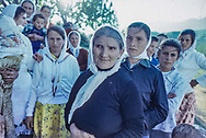 Albania. FUSHE, in the north: the people are waiting~ for the truck on their way to a weddingParty.