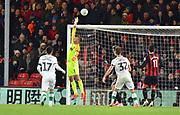 Save - Artur Boruc (1) of AFC Bournemouth tips the ball over the bar during the EFL Cup 4th round match between Bournemouth and Norwich City at the Vitality Stadium, Bournemouth, England on 30 October 2018.