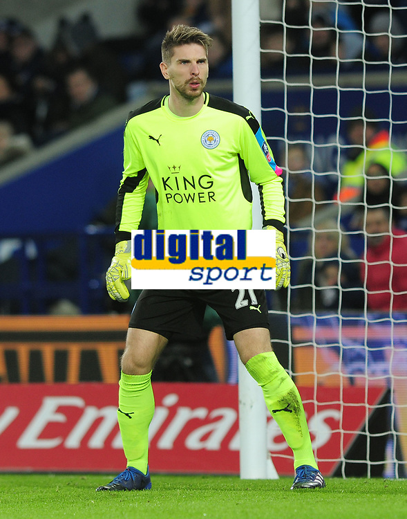 Football - 2016 / 2017 FA Cup - Fourth Round, Replay: Leicester City vs. Derby County<br /> <br /> Ron Robert Zieler of Leicester at King Power Stadium.<br /> <br /> COLORSPORT/ANDREW COWIE