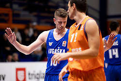 Leon Santelj of KK Rogaska during basketball match between KK Helios Suns and KK Rogaska in ABA League Second division, on October 31, 2018 in Sports hall Domzale, Domzale, Slovenia. Photo by Urban Urbanc / Sportida
