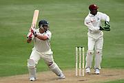 Black Caps batsman Jesse Ryder in action batting as West Indies keeper Denesh Ramdin looks on. New Zealand v West Indies, First Test Match, National Bank Test Series, University Oval, Dunedin, Thursday 11 December 2008. Photo: Andrew Cornaga/PHOTOSPORT