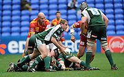 Reading, GREAT BRITAIN, Exiles,David PAICE, clears the ball from the ruck, during the Heineken, Quarter Final, Cup rugby match,  London Irish vs Perpignan, at the Madejski Stadium on Sat 05.04.2008 [Photo, Peter Spurrier/Intersport-images]