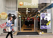 © Licensed to London News Pictures. 07/12/2011. London, UK. The UK's biggest outdoor retailer, Blacks Leisure, put itself up for sale today in a last-ditch effort to save the loss-making business from collapse. FILE PICTURE dated 30/09/09 Blacks shop on Kensington High Street, London. Photo credit : Stephen Simpson/LNP