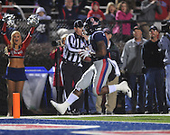Ole Miss' Brandon Bolden (34) makes a touchdown catch vs. Louisiana Tech in Oxford, Miss. on Saturday, November 12, 2011.