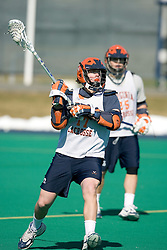 Virginia Cavaliers M Mike Thompson (17) in action against Georgetown.  The #1 ranked Virginia Cavaliers Men's Lacrosse team scrimmaged the #6 Georgetown Hoyas at the University of Virginia's Turf Field in Charlottesville, VA on February 10, 2007.