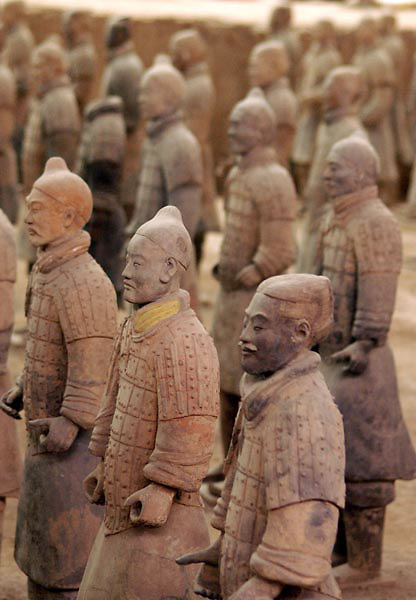 Terracotta soldiers in Xi'an, Shaanxi province of China.
