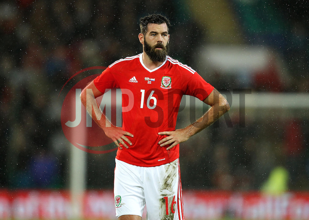 Joe Ledley of Wales - Mandatory byline: Robbie Stephenson/JMP - 07966 386802 - 13/11/2015 - FOOTBALL - Cardiff City Stadium - Cardiff, Wales - Wales v Netherlands - International Friendly