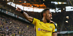 27.09.2015, Signal Iduna Park, Dortmund, GER, 1. FBL, Borussia Dortmund vs SV Darmstadt 98, 7. Runde, im Bild Pierre-Emerick Aubameyang (Borussia Dortmund #17) beim Torjubel nach dem Treffer zum 2:1 // during the German Bundesliga 7th round match between Borussia Dortmund and SV Darmstadt 98 at the Signal Iduna Park in Dortmund, Germany on 2015/09/27. EXPA Pictures © 2015, PhotoCredit: EXPA/ Eibner-Pressefoto/ Schueler<br /> <br /> *****ATTENTION - OUT of GER*****