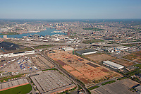 Aerial photo of Duke properties old General Motors plant toward Baltimore City