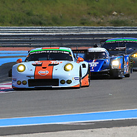 #86, Porsche 911 RSR, Gulf Racing, driven by Michael Wainwright, Adam Carroll, Ben Barker, #36, Alpine A460 Nissan, Signatech-Alpine, driven by  Gustavo Menezes, Nicolas Lapierre, Stephane Richelmi, #98, Aston Martin Vantage, Aston Martin Racing, driven by Paul Dalla Lana, Pedro Lamy, Mathias Lauda, FIA WEC Prologue Circuit Paul Ricard, 26/03/2016,