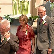 NLD/Groningen/20070609 - Huwelijk Arjen Robben en Bernadien Eillert, ouders Bernadien..Wedding of the dutch Chelsea soccer player Arjen Robben with his girlfriend Bernadien Eillert along with family and friends