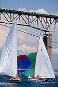 Surprise and Wistful sailing in the Robert H. Tiedemann Classic Yachting Weekend race 1.