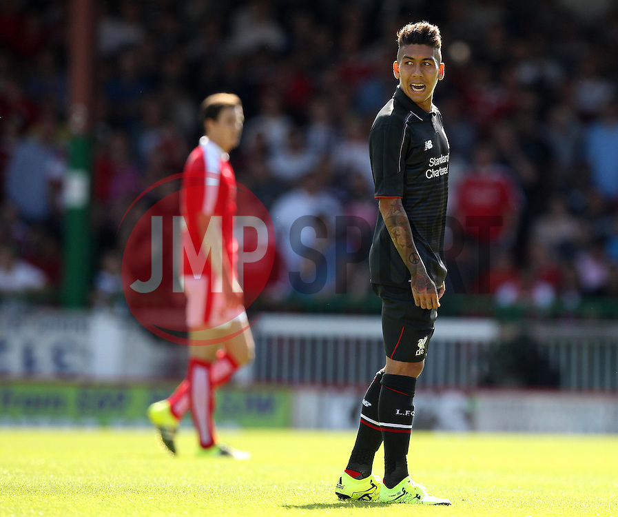 Liverpool's Roberto Firmino - Mandatory by-line: Robbie Stephenson/JMP - 07966386802 - 02/08/2015 - SPORT - FOOTBALL - Swindon,England - County Ground - Swindon Town v Liverpool - Pre-Season Friendly