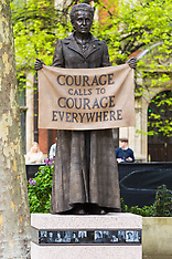 2018-04-24  - SWNS - Statue of Millicent Fawcett unveiled in Parliament Square