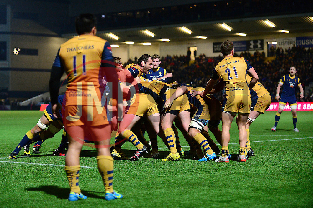 Bristol Rugby scrum - Mandatory by-line: Dougie Allward/JMP - 04/11/2016 - RUGBY - Sixways Stadium - Worcester, England - Worcester Warriors v Bristol Rugby - Anglo Welsh Cup