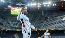 20.10.2016, Red Bull Arena, Salzburg, AUT, UEFA EL, FC Red Bull Salzburg vs OGC Nizza, Gruppe I, im Bild Torjubel Nizza nach dem 0:1 durch Alassane Plea (OGC Nice) // Nice Celebrate after Alassane Plea (OGC Nice) scores the Openig Goal during the UEFA Europa League group I match between FC Red Bull Salzburg and OGC Nizza at the Red Bull Arena in Salzburg, Austria on 2016/10/20. EXPA Pictures © 2016, PhotoCredit: EXPA/ JFK