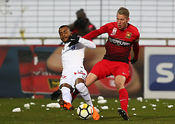24.02.2018, BSFZ Arena, Maria Enzersdorf, AUT, 1. FBL, FC Flyeralarm Admira vs FK Austria Wien, 24. Runde, im Bild Felipe Augusto Rodrigues Pires (FK Austria Wien) und Thomas Ebner (FC Flyeralarm Admira) // during Austrian Bundesliga Football 24nd round match between FC Flyeralarm Admira vs FK Austria Wien at the BSFZ Arena, Maria Enzersdorf, Austria on 2018/02/24. EXPA Pictures © 2018, PhotoCredit: EXPA/ Thomas Haumer