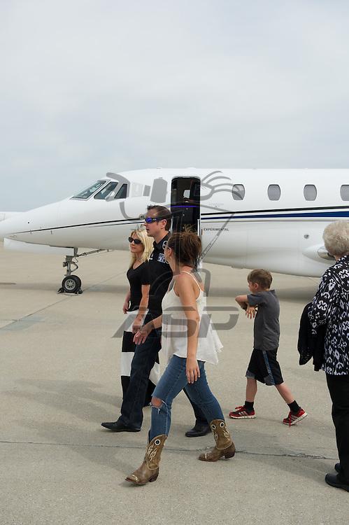 Indianapolis, IN - May 24th, 2014:  Kurt Bush landing at Million Air airport in Indianapolis, IN.  <br /> <br /> MANDATORY PHOTO CREDIT:  Walter G. Arce, Sr. KBI/ActionSportsInc.com