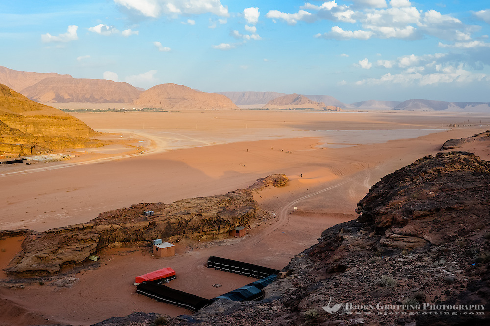 Jordan. Wadi Rum is also known as The Valley of the Moon. Bedouin camp.