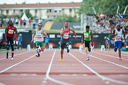 VANCE Shaquille, REARDON Scott, POPOW Heinrich, YODHA Jayalath, KAYITARE Clavel, USA, AUS, GER, SRI, FRA, 100m, T42, 2013 IPC Athletics World Championships, Lyon, France