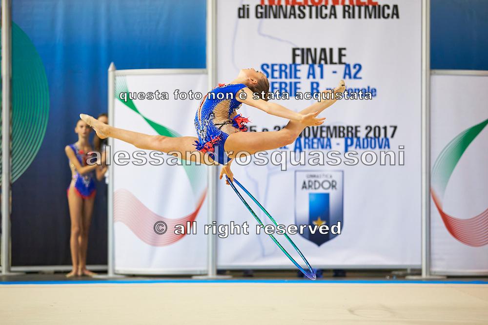 Martina Brambilla from San Giorgio Desio team during the Italian Rhythmic Gymnastics Championship in Padova, 25 November 2017.