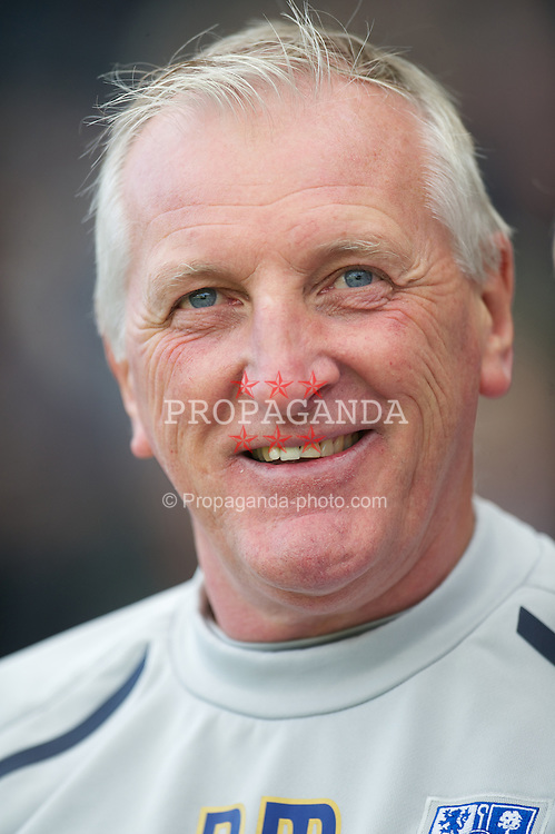 NOTTINGHAM, ENGLAND - Saturday, October 6, 2012: Tranmere Rovers' manager Ronnie Moore before the Football League One match against Notts County at Meadow Lane. (Pic by David Rawcliffe/Propaganda)