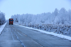 November 3, 2018 - Heihe, Heihe, China - Heihe,CHINA-The snow-covered road, located in northeast China's Heilongjiang Province, is dubbed as 'the most beautiful country road' in China. (Credit Image: © SIPA Asia via ZUMA Wire)