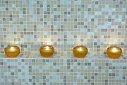 Candles on a bathroom spa