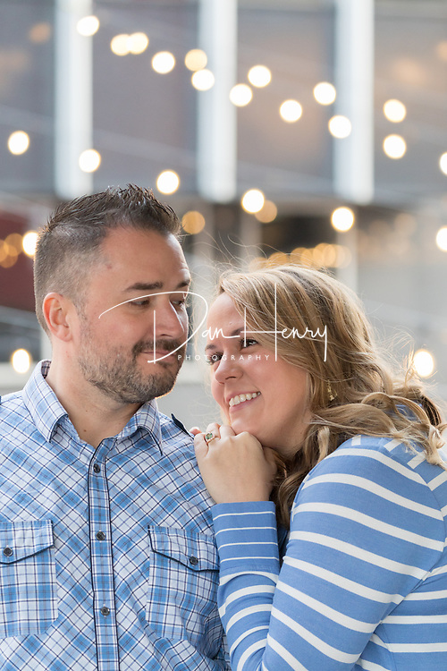 Engagement session with Hayley Graham and Shaun Duncan in downtown Chattanooga. Photo by Dan Henry / DanHenryPhotography.com