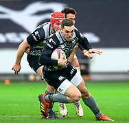 George North of Ospreys<br /> <br /> Photographer Simon King/Replay Images<br /> <br /> European Rugby Challenge Cup Round 5 - Ospreys v Worcester Warriors - Saturday 12th January 2019 - Liberty Stadium - Swansea<br /> <br /> World Copyright © Replay Images . All rights reserved. info@replayimages.co.uk - http://replayimages.co.uk