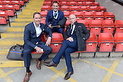 Sky Sports presntation team during the Sky Bet League 1 play-off second leg match between Walsall and Barnsley at the Banks's Stadium, Walsall, England on 19 May 2016. Photo by Dennis Goodwin.