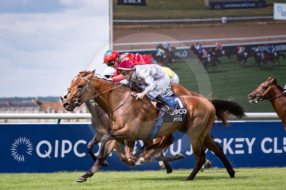 Brametot (C.Demuro) (outside red cap) wins QIPCO Prix du Jockey Club Gr. 1   in Chantilly, France, 04/06/2017 Photo: Zuzanna Lupa / Racingfotos.com
