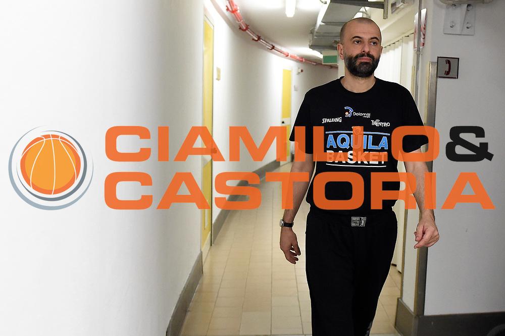 Maurizio Buscaglia<br /> Umana Reyer Venezia - Dolomiti Energia Aquila Basket Trento<br /> Lega Basket Serie A 2016/2017<br /> Playoff, finale gara 5<br /> Venezia, 18/06/2017<br /> Foto M.Ceretti / Ciamillo-Castoria