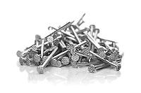 Nails on white bacground - close-up