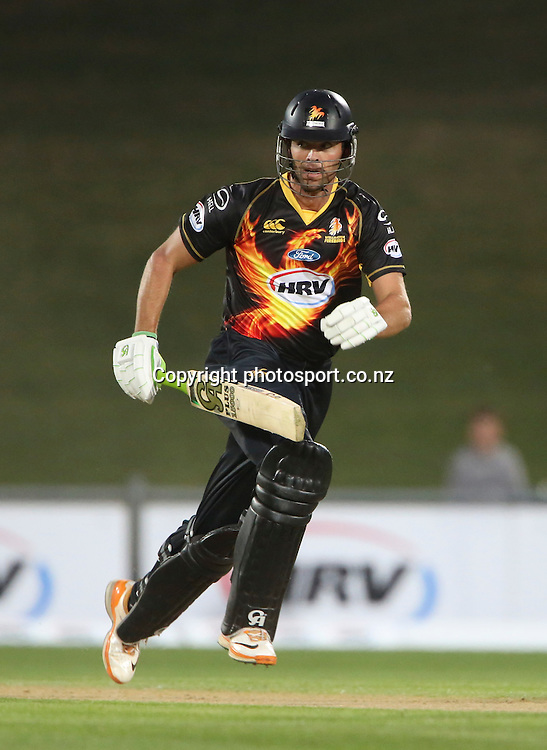 Wellington's James Franklin in the HRV Cup T20 cricket match between the Central Districts Stags and the Wellington Firebirds at McLean Park, Napier, New Zealand. Friday, 07 December, 2012. Photo: John Cowpland / photosport.co.nz