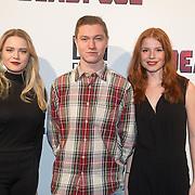 NLD/Hilversum/20160209 - Filmpremiere Deadpool, Roos Dickmann, Sol Vinken, Luca Hollestelle