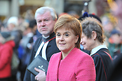 First Minister Nicola Sturgeon waits for the Princess Royal to arrive for a memorial service to pioneering WW1 medic Elsie Inglis in Edinburgh and meets descendants of the Scottish doctor.<br /> <br /> © Dave Johnston/ EEm