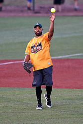 04 August 2018: Ray Lankford. Legends Game for the Miracle League at Corn Crib Stadium on the campus of Heartland Community College in Normal Illinois<br /> <br /> Game featured retired MLB players from the ST. Louis Cardinals and the Chicago Cubs...  Derek Lee, Bobbie Dernier, Kyle Farnsworth, Les Lancaster, Ray Lankford, Kerry Robinson, Jim Edmonds, and Aramis Ramirez