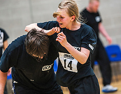 P1's continue to attack at the grading. Franklyn Hartkamp takes the Institute Of Krav Maga Scotland grading today at Stirling.<br /> &copy;Michael Schofield.
