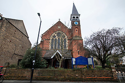© Licensed to London News Pictures. 27/12/2019. London, UK. Emmanuel Church in Wimbledon Village, South West London, where Rev Jonathan Fletcher who was vicar at the church from 1992 until 2012 has been accused of abuse claims by 5 alleged victims of bullying and intimidation over several years. Photo credit: Alex Lentati/LNP