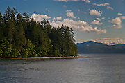 Holly Bay and the Hood Canal on the Kitsap Peninsula of Puget Sound, Washington USA