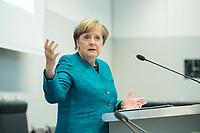 24 APR 2017, BERLIN/GERMANY:<br /> Angela Merkel, CDU, Bundeskanzlerin, 9. Energiepolitischer Dialog der CDU/CSU-Fraktion im Deutschen Bundestag &quot;Spannungsfeld Energiewende - Die Energiewende wirtschaftlich gestalten&quot;, Fraktionssitzungssaal, Deutscher Bundestag<br /> IMAGE: 20170424-01-148