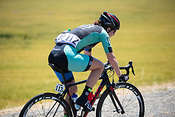 Whitney Allison (USA) of Hagens Berman/Supermint Cycling Team rides alone at the front during Stage 1 of the Amgen Tour of California - a 124 km road race, starting and finishing in Elk Grove on May 17, 2018, in California, United States. (Photo by Balint Hamvas/Velofocus.com)