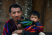 Konyak Naga man<br /> Konyak Naga headhunting Tribe<br /> Mon district<br /> Nagaland,  ne India