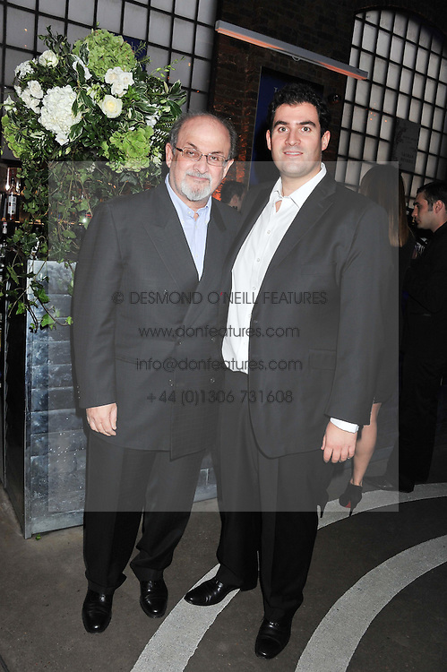 Left to right, SIR SALMAN RUSHDIE and his son ZAFAR RUSHDIE at a party to celebrate the publication of Joseph Anton by Sir Salman Rushdie held at The Collection, 264 Brompton Road, London SW3 on 14th September 2012.