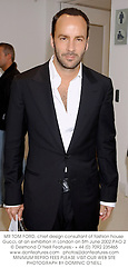 MR TOM FORD, chief design consultant of fashion house Gucci, at an exhibition in London on 5th June 2002.PAO 2